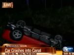 Hertz Corvette flipped into Florida canal