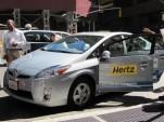 Hertz electric-car rental press event, New York City, September 2010