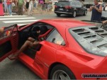 High-Heeled Ferrari F40 Driver