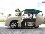 Hiroshima University's iSAVE-SC1 inflatable electric car. [Image: Video screen capture]