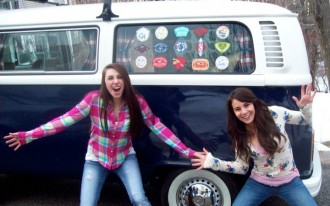 Girl's Brilliant Backside Wins Her VW Bus