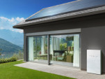 Home equipped with solar panel and battery storage system from Tesla