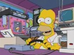 Homer Simpson, distracted driver