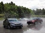 Honda Clarity lineup at Honda R&D Center, Tochigi, Japan, June 2017