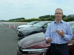 Honda Clarity series with Green Car Reports editor John Voelcker at Honda R&D Center, Tochigi, Japan