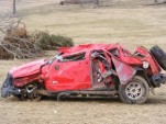 Hummer in Sage, Arkansas, after February 2008 tornado - Weather Channel photo by bsusi1031