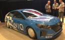 Hyundai Ioniq Hybrid Land Speed Record car, at SEMA 2016