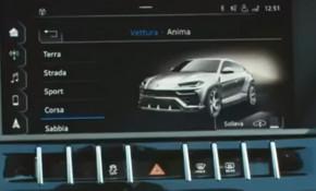 Image of Lamborghini Urus in Corsa driving mode video