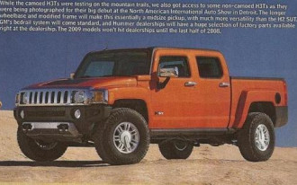 HUMMER Web Site Nabs New H3T Truck