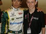 Indy car driver Takuma Sato and Zach Veach - Photo courtesy www.zachveach.com