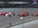 Indy Lights four-wide finish at the 2013 Freedom 100