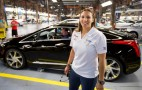 IndyCar's Simona de Silvestro Watches The 2014 Cadillac ELR Being Built