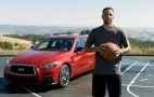 Steph Curry sinks shot into Infiniti Q50's sunroof