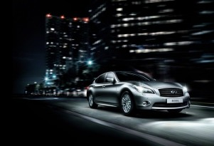Infiniti's M35hL extended wheelbase hybrid sedan, from the 2012 Beijing Auto Show