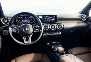 Interior design of next-generation Mercedes-Benz compact cars