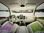 Interior of Cadillac Escalade in faux Murakami fabric (photo by Luis Gispert)