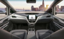 Interior of Chevrolet Cruise AV self-driving car, to go into production in 2019