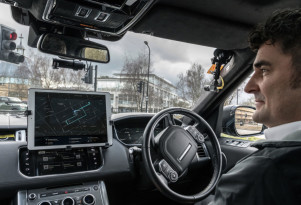 Jaguar Land Rover self-driving car