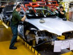 Jaguar XF assembly line