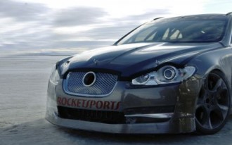 Video: Jag XFR Screams Across Bonneville at 225 mph