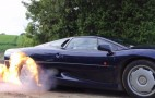 Jaguar XJ220 Lights Tires On Fire In Ultimate Burnout