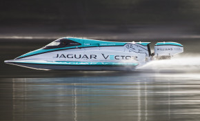 Jaguar Vector Racing break marine electric speed record