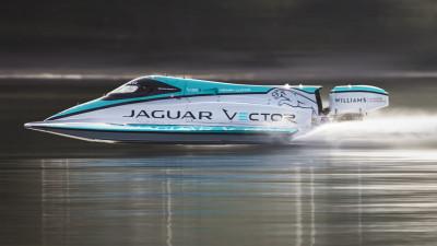 Jaguar Vector Racing break marine electric speed record