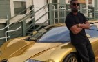 Jamie Foxx turned his Bugatti Veyron gold