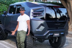 Jamie Foxx spotted driving the Rezvani Tank