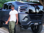 Jamie Foxx with the Rezvani Tank