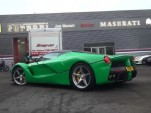 Jay Kay has a green LaFerrari and it was spotted driving on full-electric mode