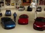 Jay Leno and three generations of the Mazda MX-5 Miata