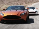 Jay Leno behind the wheel of the 2017 Aston Martin DB11