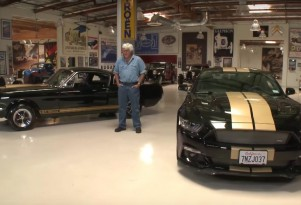 Jay Leno checks out the Ford Shelby GT350-H