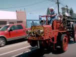 Jay Leno shows off his 1911 Christie Fire Engine