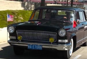 Jay Leno drives a Chinese-made Hongqi