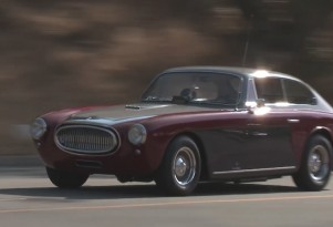 Jay Leno drives his 1953 Cunningham C3