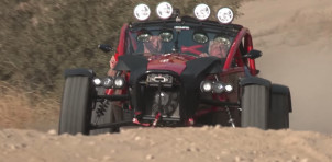 Jay Leno drives the Ariel Nomad Tactical
