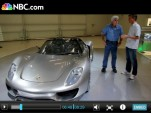 Jay Leno gets a tour of the Porsche 918 spyder