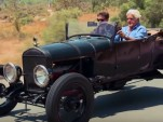 Jay Leno samples a hot-rodded 1927 Ford Model T