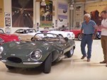 Jay Leno with the 'new' 1957 Jaguar XKSS