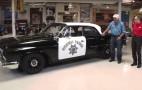 Jay Leno looks for perps in '61 Dodge Polara police car