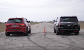 Jeep Grand Cherokee Trackhawk vs. Hennessey HPE800 Cadillac Escalade
