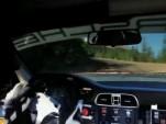 Jeff Zwart drives the 911 GT3 Cup at the 2010 Pikes Peak Hillclimb