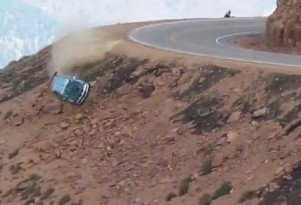 Jeremy Foley and Yuri Kouznetsov crash at Pikes Peak 2012