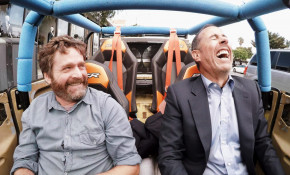 Jerry Seinfeld and Zach Galifainakis on Season 6 of Comedians in Cars Getting Coffee