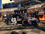 Jimmie Johnson, after taking the pole for the AAA Teaxs 500 - image: Hendrick Motorsport