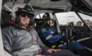 Joel Feder and David Higgins in Subaru WRX race car