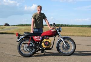 Homebrew 6-HP Motorcycle Sets Biodiesel World Speed Record