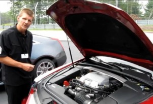 John Rydzewski, assistant chief for GM small-block product team, with 2011 Cadillac CTS-V Coupe